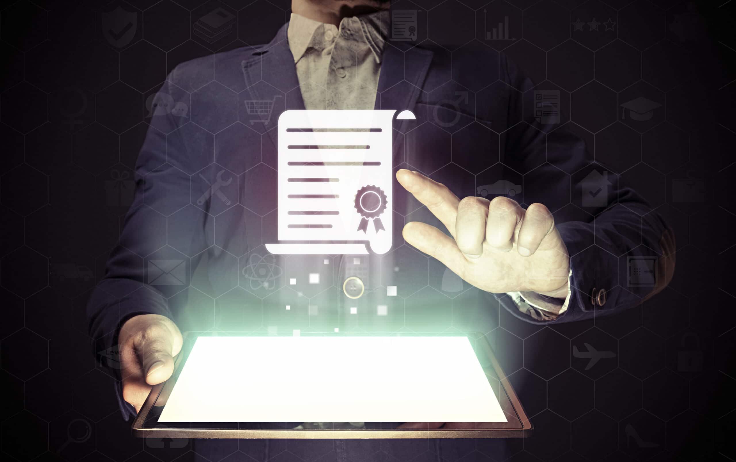 Digitale Unterschrift und digitale Signatur Dinotronic