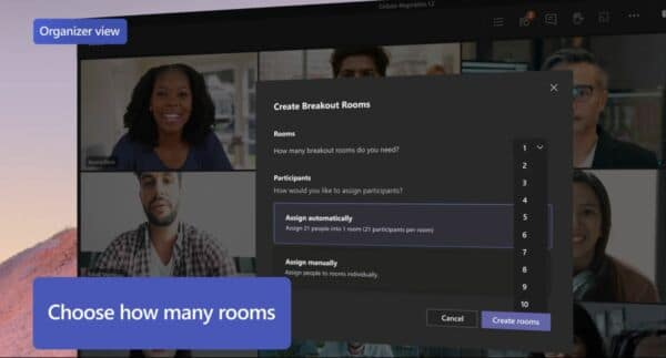 Feature Breakout Rooms at Microsoft Teams