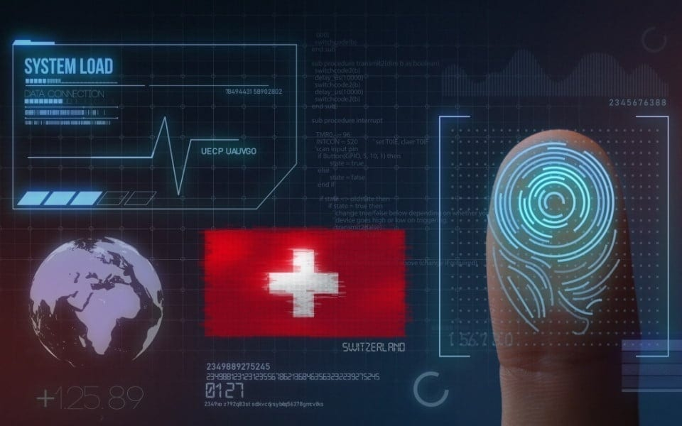 Finger Print Biometric Scanning Identification System. Switzerland Nationality
