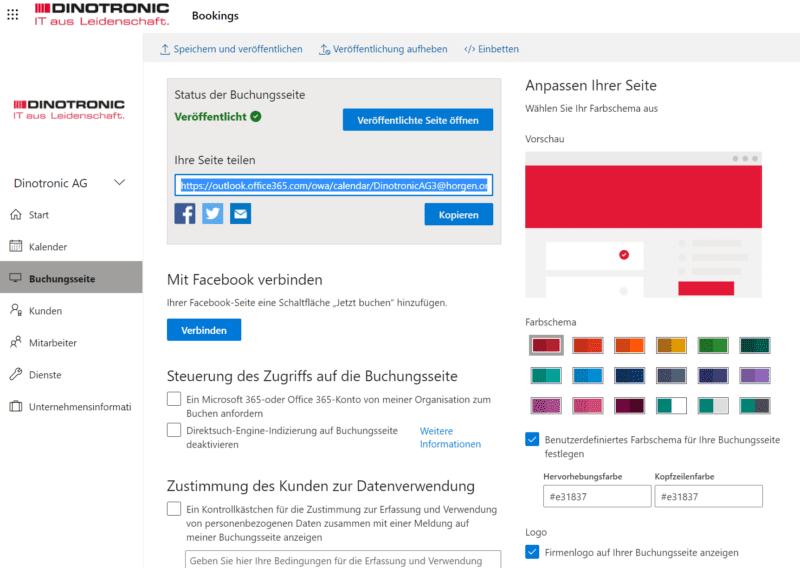 Microsoft Bookings via iFrame auf Webseite einbinden.