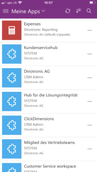 Bsp. Dinotronic Apps für Mitarbeitende in Power Apps