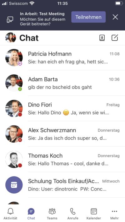 Microsoft Teams Phone Funktion Anruf hinzufügen oder übertragen